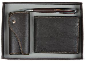"""Подарочный набор """"VIRON"""": авторучка, ключница, портмоне  (43555)"""