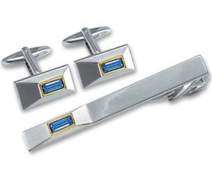 Набор: заколка для галстука + запонки (EG-07832)