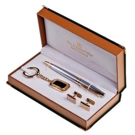 """Набор """"De Cambridge"""": ручка, брелок, запонки (20031)"""