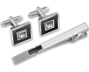 Набор:заколка для галстука + запонки (EG-110146)